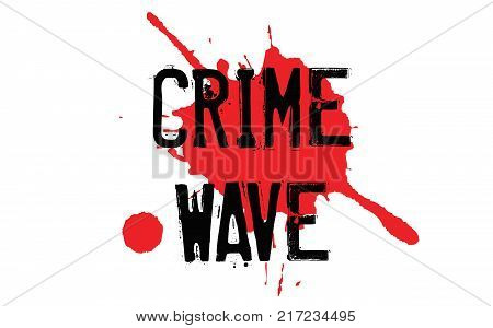 Crime Wave. Typographic stamp visualisation concept Original series.