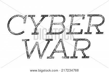 Cyber War. Typographic stamp visualisation concept Original series.