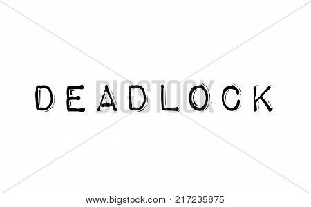 Deadlock. Typographic stamp visualisation concept Original series.