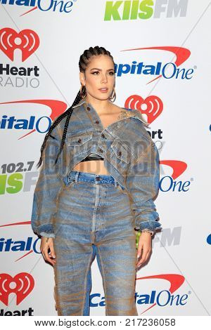 LOS ANGELES - DEC 2:  Halsey at the Jingle Ball 2017 at the Forum on December 2, 2017 in Inglewood, CA