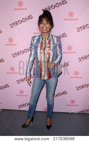 LOS ANGELES - DEC 6:  Yara Shahidi at the 29Rooms West Coast Debut presented by Refinery29 at the ROW DTLA on December 6, 2017 in Los Angeles, CA