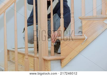 Stair Railing Kit Installation for wooden railing for stairs