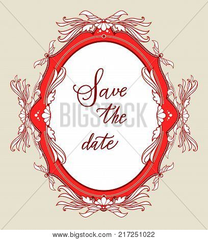 Holiday template for design banner, ticket, leaflet, card, poster and so on. Save the date lettering.