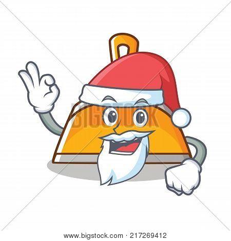 Santa dustpan character cartoon style vector illustration