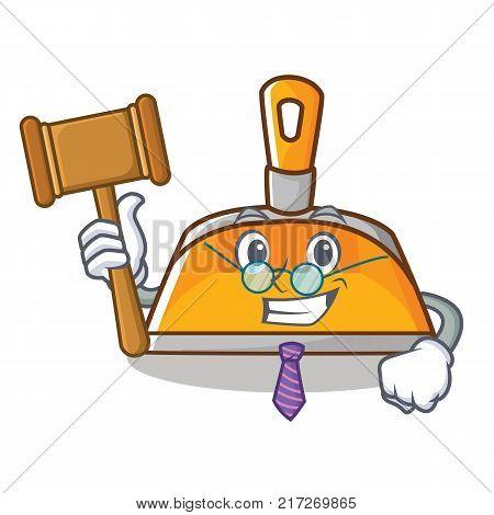 Judge dustpan character cartoon style vector illustration