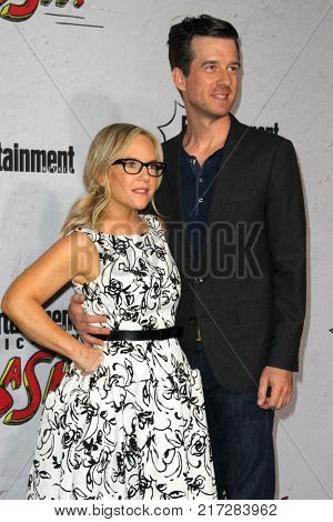 SAN DIEGO - July 22:   Rachael Harris and Christian Hebel  at the Entertainment Weekly's Annual Comic-Con Party 2017 at the Float at Hard Rock Hotel San Diego on July 22, 2017 in San Diego, CA