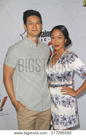 SAN DIEGO - July 22:  Harry Shum Jr., Shelby Rabara at the Entertainment Weekly's Annual Comic-Con Party 2017 at the Float at Hard Rock Hotel San Diego on July 22, 2017 in San Diego, CA