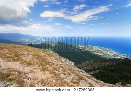the top of AI Petri the view from the top of the mountain / Yalta Crimea beauty of nature summer