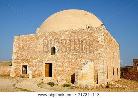 Mosque of Sultan Ibrahim in Fortezza citadel Rethymno Crete Greece
