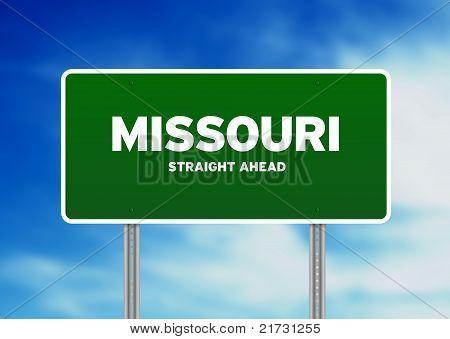 Sinal de estrada de Missouri