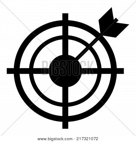 Target icon. Simple illustration of target vector icon for web