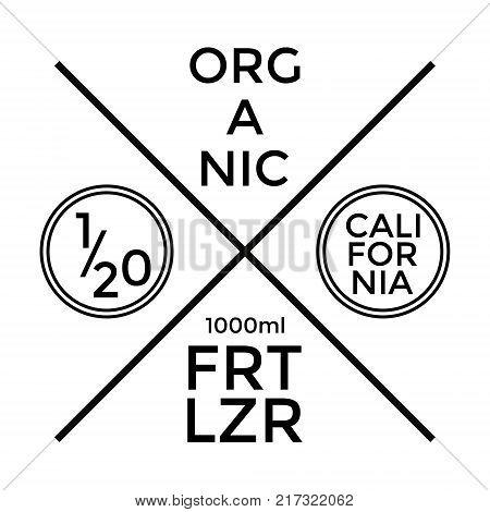 Organic Fertilizer Label and Badge Design. Vector illustration