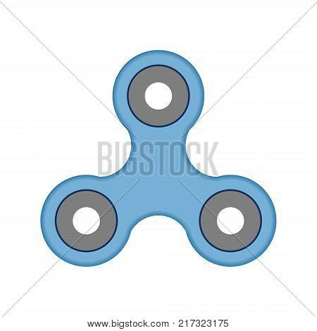 Spinner Fidget Icon Isolated on White background. Vector illustration
