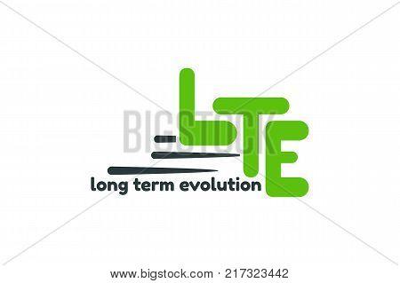 Long term evolution logo template. LTE 4G internet services