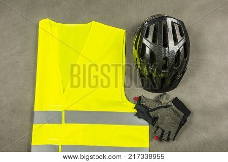 Biker's attributes to be safe and more visible on the road.