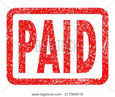 grunge paid rubber stamp on white background. paid stamp sign. red paid symbol.