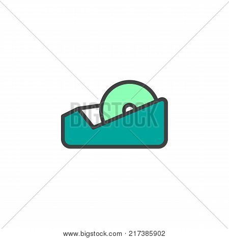 Adhesive tape filled outline icon, line vector sign, linear colorful pictogram isolated on white. Symbol, logo illustration. Pixel perfect vector graphics