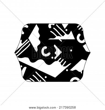 contour line quadrate with abstract figures style background vector illustration