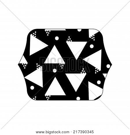 contour line quadrate with geometric style figures background vector illustration