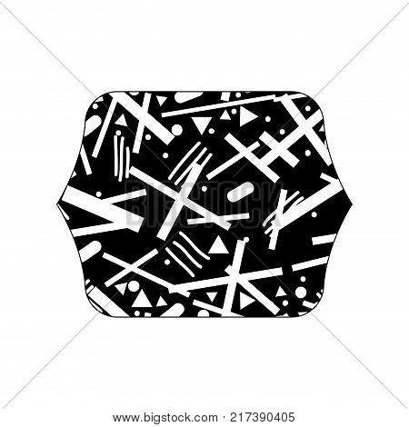 contour line quadrate with abstract graphic style background vector illustration
