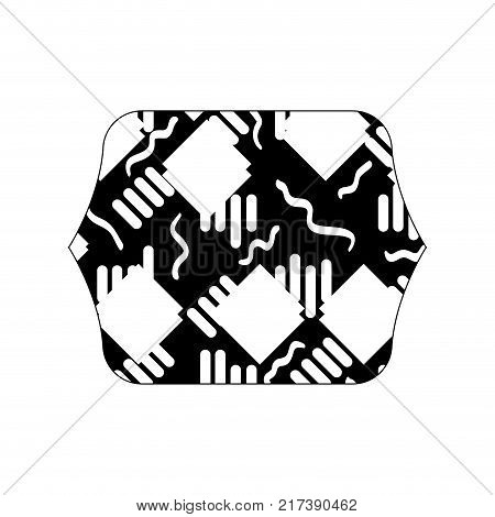 contour line quadrate with memphis abstract style background vector illustration