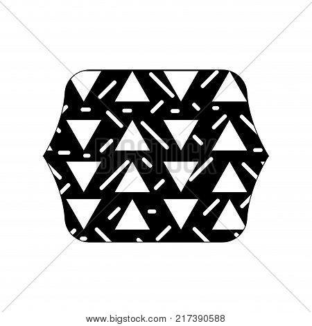 contour line quadrate with geometric graphic memphis background vector illustration