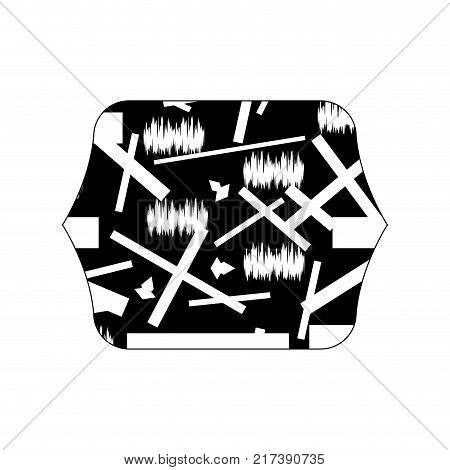 contour line quadrate with graphic abstract style background vector illustration