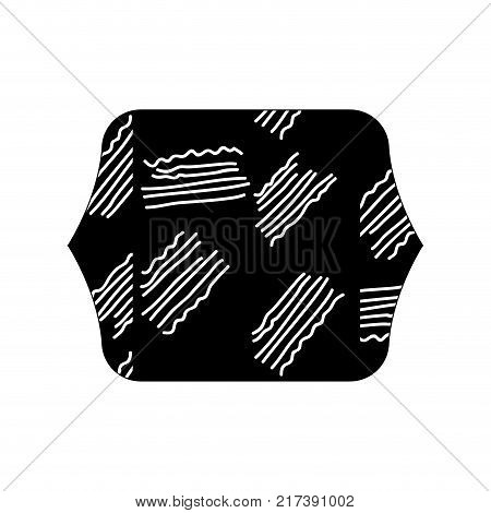 contour line quadrate with geometric graphic style background vector illustration