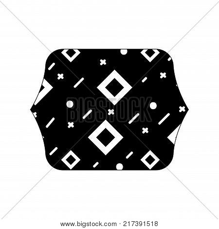 contour line quadrate with geometric abstract figures background vector illustration