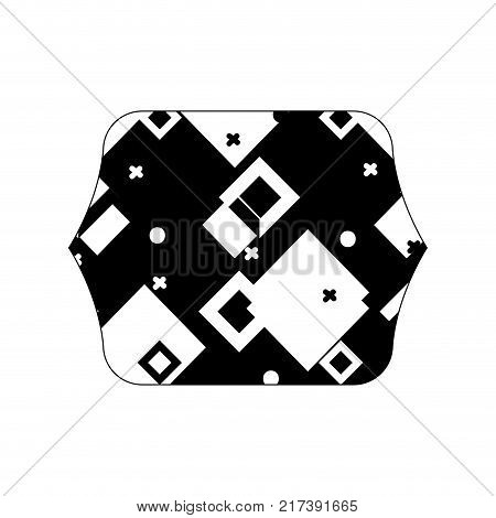 contour line quadrate with geometric style graphic background vector illustration