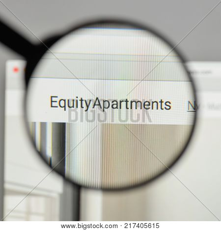 Milan, Italy - August 10, 2017: Equity Residential Logo On The Website Homepage.