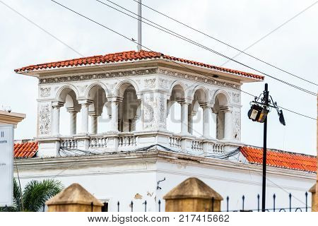 View Of The Historic Building In Santo Domingo, Dominican Republic. Copy Space For Text.