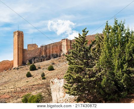 The Castillo De Molina De Aragon Is A Castle Of Moorish Origin Located In Guadalajara Province, Spai