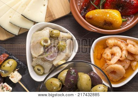 Dried Tomatoes And Olives Starters