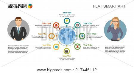 Eight communication vector photo free trial bigstock eight communication options process chart slide template business data workflow world map gumiabroncs Gallery