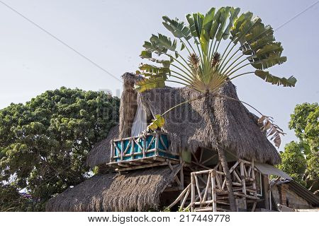 Palapa style tropical home on the Mexican Pacific coast