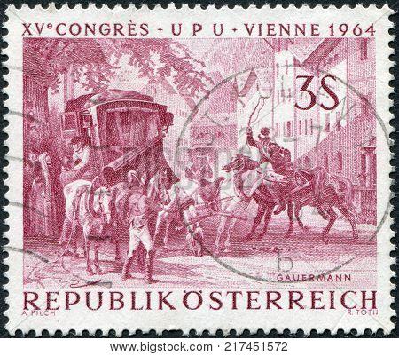 AUSTRIA - CIRCA 1964: A stamp printed in Austria shows a picture of