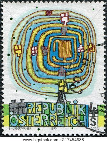 AUSTRIA - CIRCA 1975: A stamp printed in the Austrian portrayed