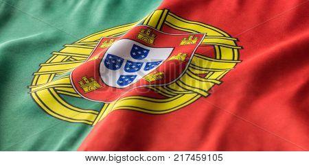 Portuguese Flag Waving