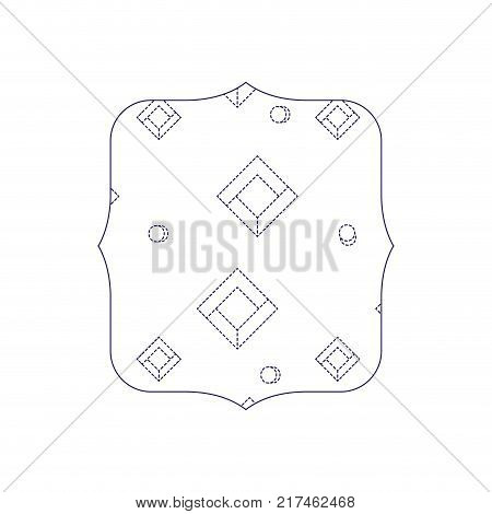 dotted shape quadrate with memphis style abstract background vector illustration
