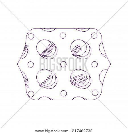dotty shape quadrate with geometric memphis style background vector illustration