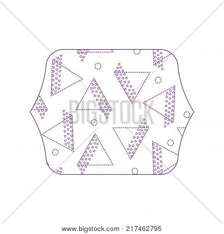 dotty shape quadrate with geometric style figures background vector illustration