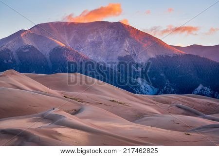 First morning light - Great Sand Dunes National Park and Preserve in Colorado
