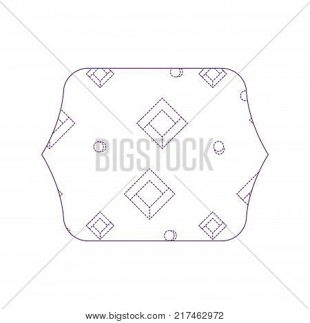 dotty shape quadrate with memphis style abstract background vector illustration