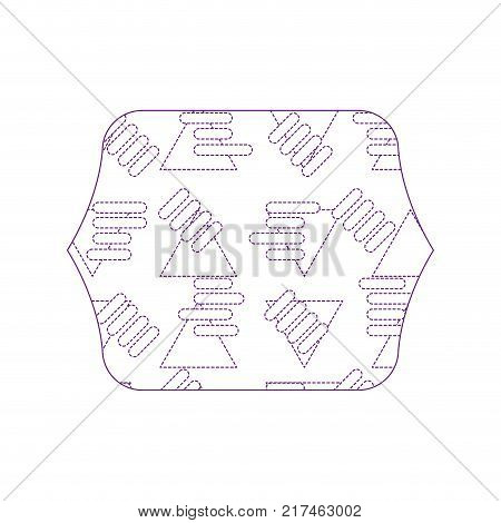 dotty shape quadrate with abstract graphic design background vector illustration