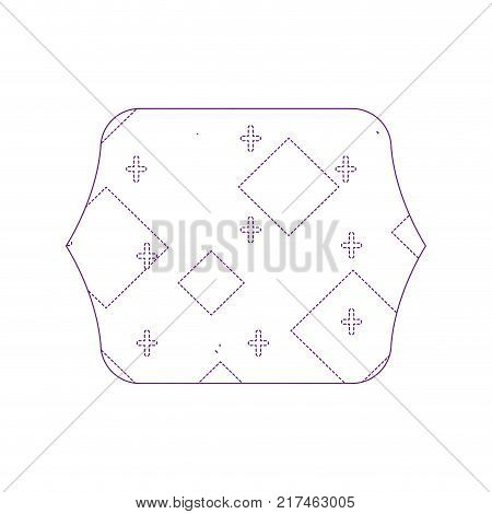 dotty shape quadrate with memphis geometric abstract background vector illustration