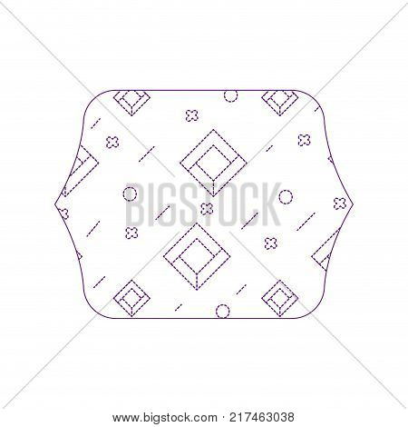 dotty shape quadrate with geometric abstract figures background vector illustration