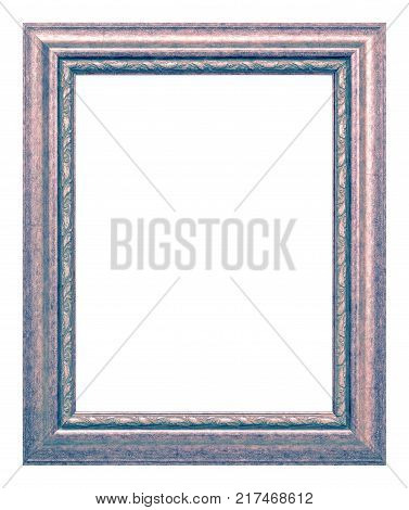 Antique pink and gray frame isolated on the white background vintage style