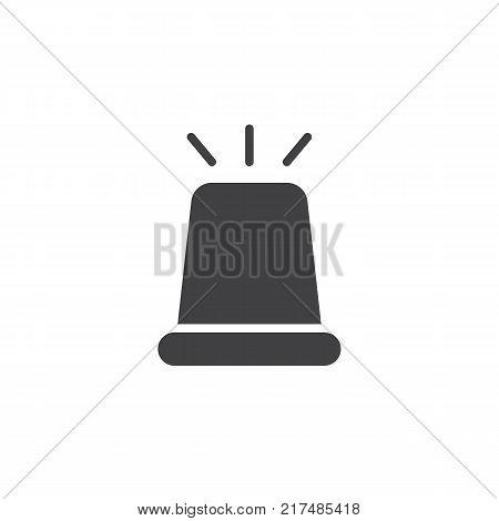 Flasher light icon vector, filled flat sign, solid pictogram isolated on white. Police ambulance flashing siren symbol, logo illustration.