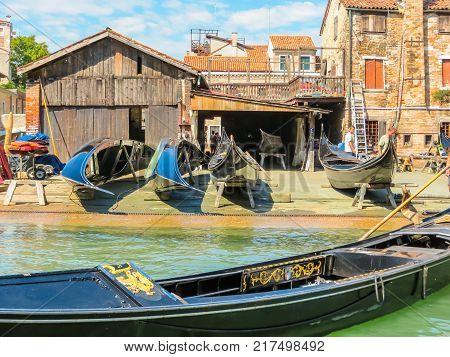 Squero Di San Trovaso - Gondolas Workshop. Venice, Italy